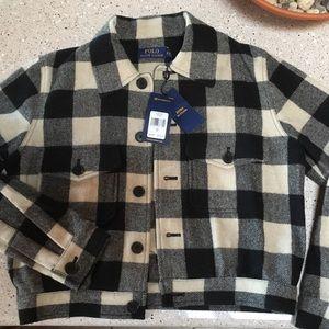 Wool buffalo check jacket